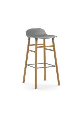 Normann Copenhagen - Chair - Form Barstool - 75 cm - Grey/Oak