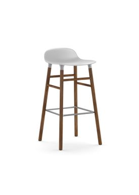 Normann Copenhagen - Chair - Form Barstool - 75 cm - White/Walnut