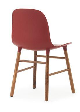 Normann Copenhagen - Chair - Form Chair - Red/Walnut