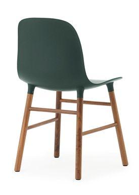 Normann Copenhagen - Chair - Form Chair - Green/Walnut