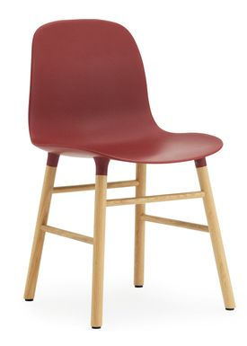 Normann Copenhagen - Chair - Form Chair - Red/Oak