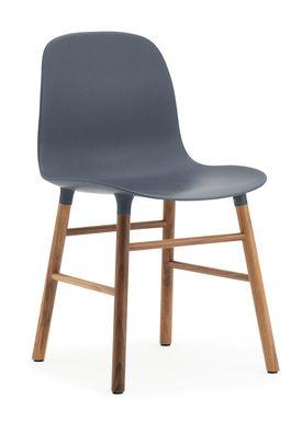 Normann Copenhagen - Chair - Form Chair - Blue/Walnut