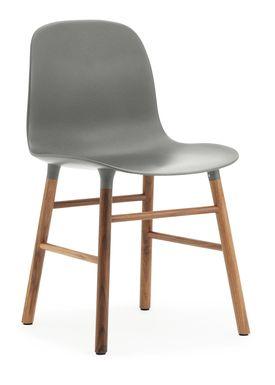 Normann Copenhagen - Chair - Form Chair - Grey/Walnut