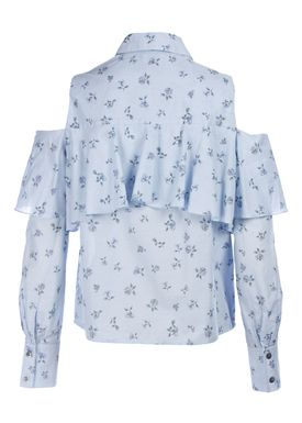 Paul & Joe Sister - Blouse - Arpege - Light Blue w. Pattern