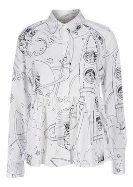 Paul & Joe Sister - Skjorte - Bastia - White/Black Print