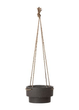 Ferm Living - Jar - Plant Hanger Low - Black Stoneware