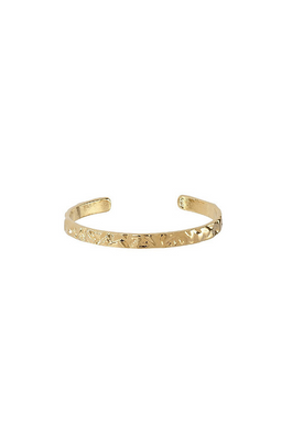 Plissé Copenhagen - Bracelet - Hammered Bangle - Gold