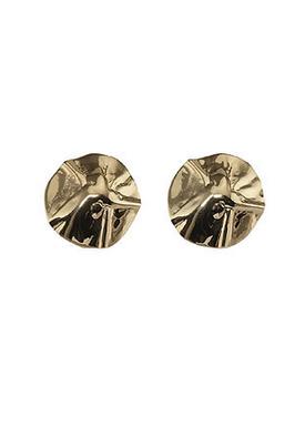 Plissé Copenhagen - Earrings - Hammered Earring - Gold