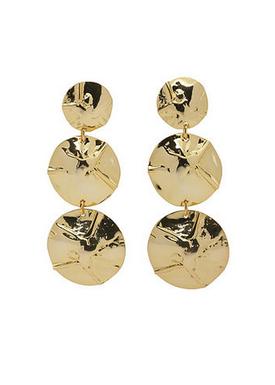 Plissé Copenhagen - Wiper - Hammered Triple Earring - Gold