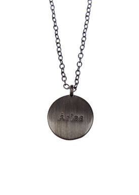 Pure By Nat - Necklace - Zodiac chain - Oxidised Aries 21.03-20.04
