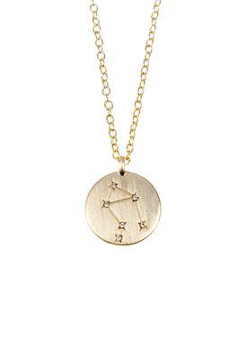 Pure By Nat - Necklace - Zodiac chain - Gold Libra 24.09-23.10