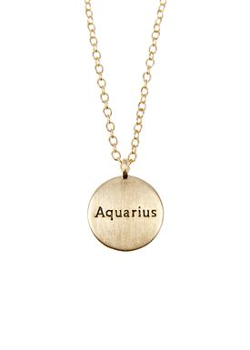 Pure By Nat - Necklace - Zodiac chain - Gold Aquarius 21.01-18.02