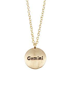Pure By Nat - Necklace - Zodiac chain - Gold Gemini 22.05-21.06
