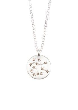 Pure By Nat - Necklace - Zodiac chain - Silver Gemini 22.05-21.06