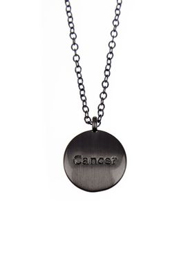 Pure By Nat - Necklace - Zodiac chain - Oxidised Cancer 22.06-22.07