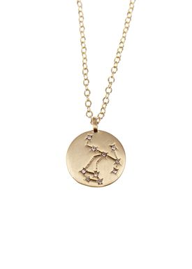 Pure By Nat - Necklace - Zodiac chain - Gold Sagittarius 23.11-21.12