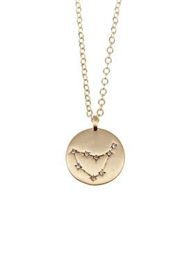Pure By Nat - Necklace - Zodiac chain - Gold Capricorn 22.12-20.01