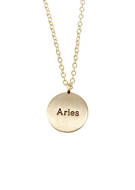 Pure By Nat - Necklace - Zodiac chain - Gold Aries 21.03-20.04