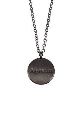 Pure By Nat - Necklace - Zodiac chain - Oxidised Aquarius 21.01-18.02