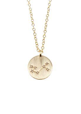 Pure By Nat - Necklace - Zodiac chain - Gold Scorpio 24.10-22.11