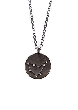 Pure By Nat - Necklace - Zodiac chain - Oxidised Capricorn 22.12-20.01