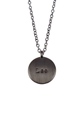 Pure By Nat - Necklace - Zodiac chain - Oxidised Leo 23.07-23.08