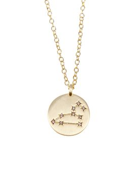 Pure By Nat - Necklace - Zodiac chain - Gold Leo 23.07-23.08