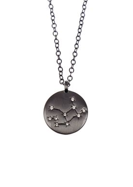 Pure By Nat - Necklace - Zodiac chain - Oxidised Virgo 24.08-23.09