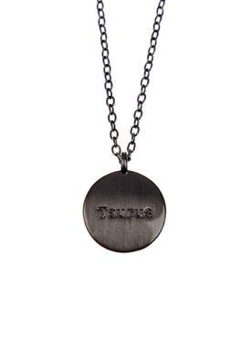 Pure By Nat - Necklace - Zodiac chain - Gold CapricornOxidised Taurus 21.04-21.05