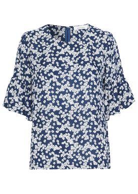 Samsøe & Samsøe - Bluse - Serena ss - Daisy Blue