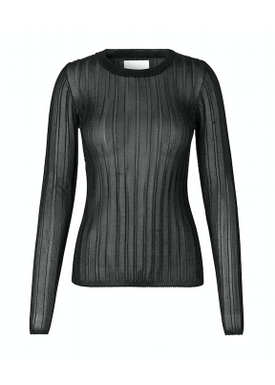 Samsøe & Samsøe - Bluse - Tass O-neck - Black