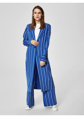 Selected Femme - Blazer - Pilea Long Blazer - Surf The Web Stripes