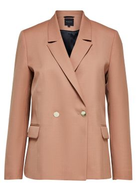 Selected Femme - Blazer - Gracina Double Breasted Blazer - Camel