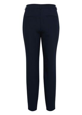 Selected Femme - Byxor - Amila Mid Waist Pants - Dark Sapphire