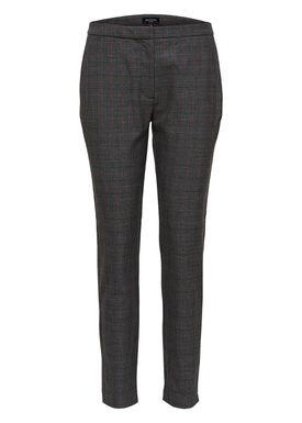 Selected Femme - Pants - Musu Cropped Midwaist Pants - Dark Grey Melange
