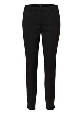 93d7e7fb Selected Femme - Pants - SLFmuse Fie Cropped Mid Waist Pants - Black ...