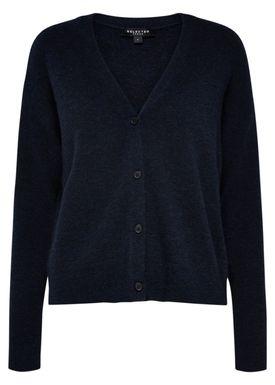 Selected Femme - Cardigan - Helka Knit Cardigan - Dark Sapphire