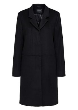 Selected Femme - Coat - Boa Wool Coat - Black