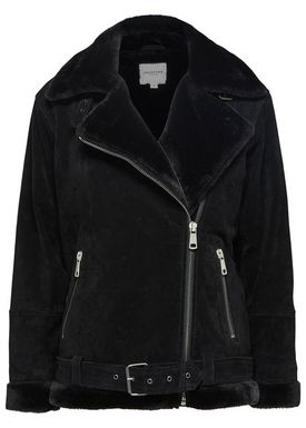 Selected Femme - Jacket - Victoria Split Leather Jacket - Black