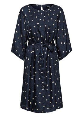 Selected Femme - Dress - Alima Dress - Dark Sapphire/Tan Flower