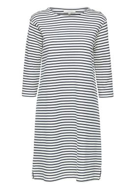 Selected Femme - Dress - Ava 3/4 Stripe Dress - White/Dark Sapphire