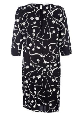 Selected Femme - Kjole - Lilica Dress - Sort/Hvid