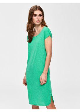 619dede4 Selected Femme - Kjole - Ivy Dress SS19 - Gumdrop Green Melange ...