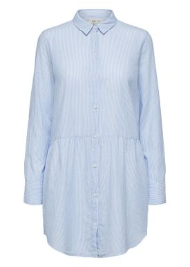 Selected Femme - Dress - Tania Long Shirt - Light Blue Stripes