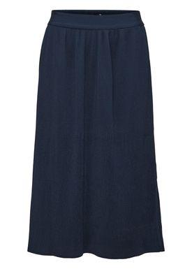 Selected Femme - Kjol - Sevince Midi Skirt - Dark Sapphire