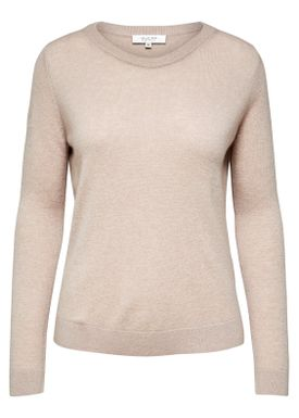 Selected Femme - Knit - Aya Cashmere Knit - Adobe Rose