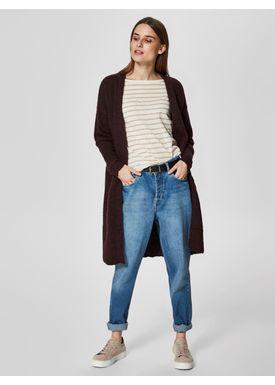 Selected Femme - Knit - Livana Knit Cardi - Mauve Wire
