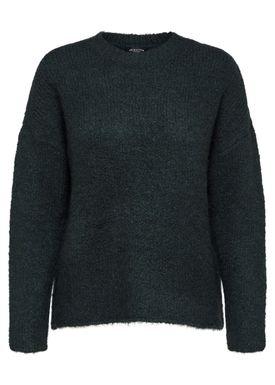 Selected Femme - Knit - Regina LS O-Neck - Scarab Green