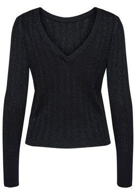 Selected Femme - Knit - Sam LS Knit - Black/Deep Blue