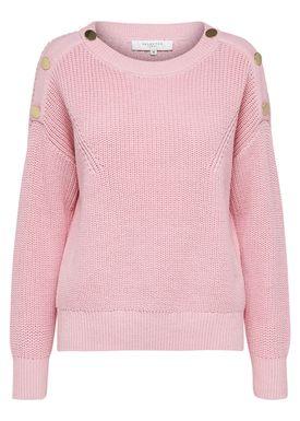 Selected Femme - Strik - Una O-Neck Knit - Blush
